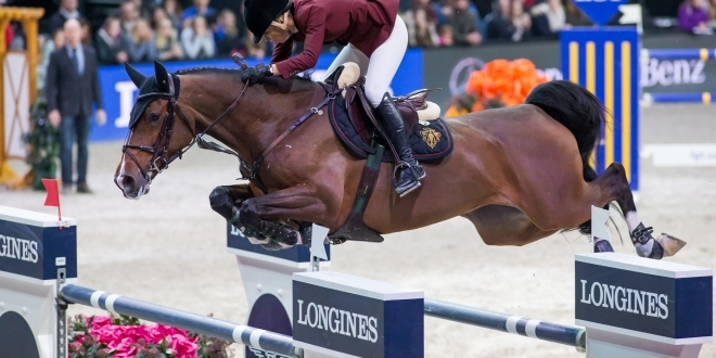 Edwina Tops Alexander riding Carentina de Joter into 3rd place. Pic Tomas Holcbecher