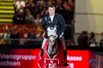 Gregoy Wathelet gewinnt den Weltcup in Leipzig bei der Partner Pferd
