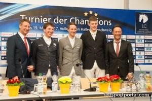 Pressekonferenz mit Franke Sloothaak, Dirk Klapproth, Christian Kukuk, Jasper Kools und Axel Milkau (Foto: Silvia Reiner)