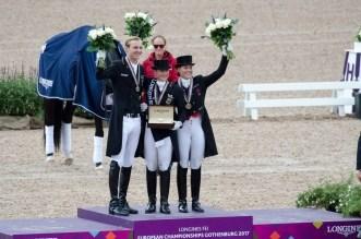 Isabell Werth, Sönke Rothenberger und Cathrine Dufour (Foto: Hans-Joachim Reiner)