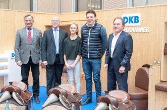 Landstallmeister Uwe Müller, Jens Hübler DKB, Anna Jurisch, Andreas Kreuzer und Turnierchef Herbert Ulonska