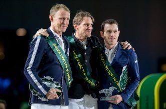 Kevin Staut, Peder Fredricson und Scott Brash (Foto: Thomas Reiner)