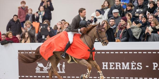 Simon Delestre - Sieger im Grand Prix Hermes 2018, Foto: Thomas Reiner