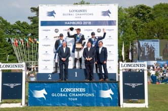 LONGINES GLOBAL CHAMPIONS TOUR Grand Prix of Hamburg -Siegerehrung (Foto: Hans-Joachim Reiner)