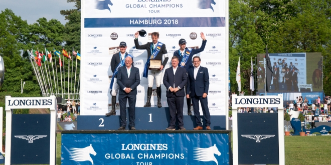 LONGINES GLOBAL CHAMPIONS TOUR Grand Prix of Hamburg -Siegerehrung (Foto: Hans-Joachim Reiner)