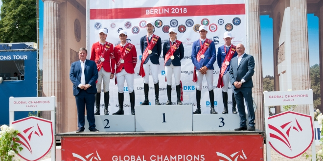 Siegerehrung der Longines Global Champions League beim Global Jumping Berlin 2018