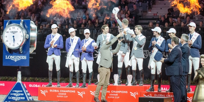 Siegerehrung Super Cup Final, Prag, O2-Arena, 16.Dezember 2018 (Foto: Hans-Joachim Reiner