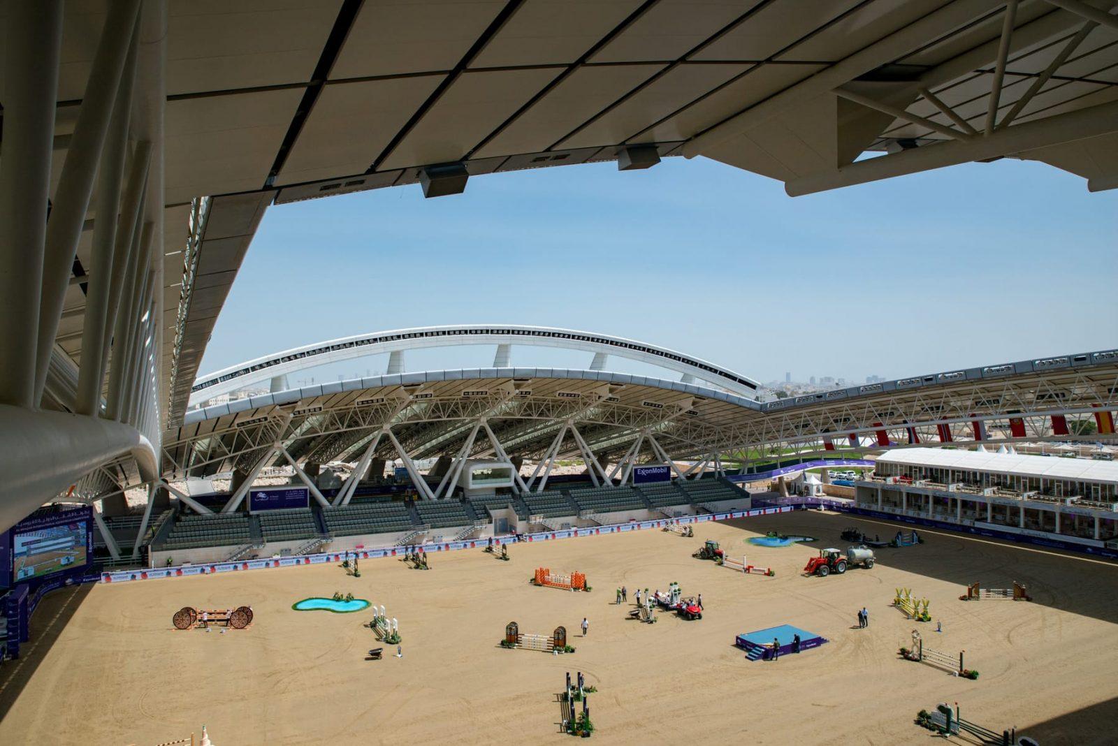 Die imposante Arena