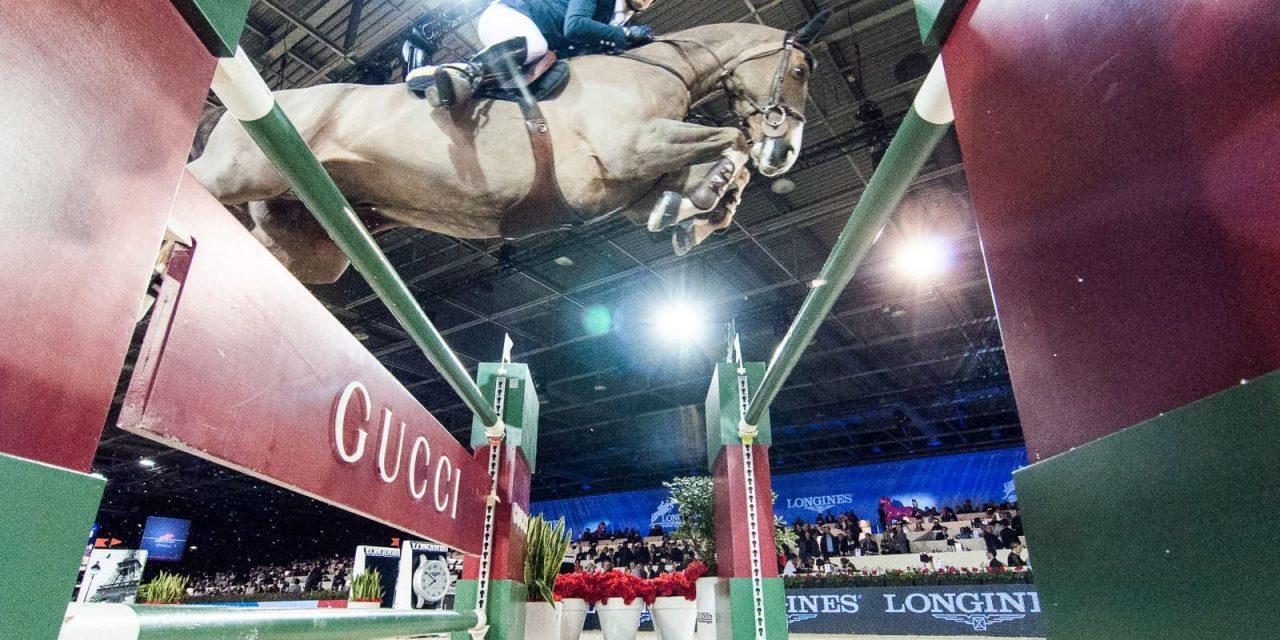 Simon Delestre gewinnt mit Chesall den GUCCI GOLD CUP in Paris beim Longines Masters