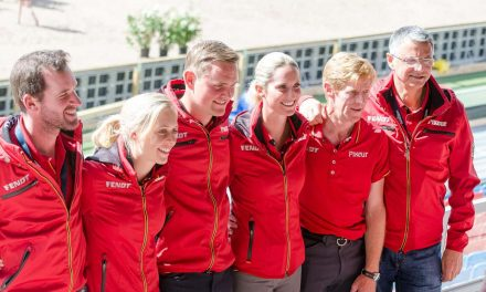 Pressekonferenz mit dem Team der deutschen Springreiter