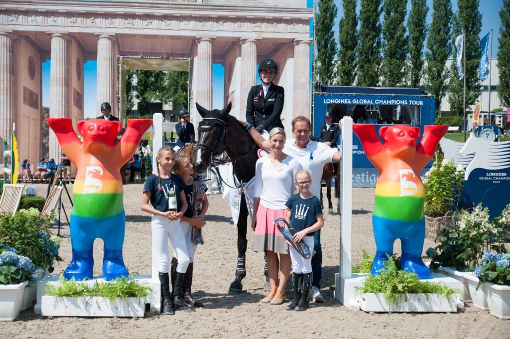 Die Siegerin Janne-Friederike Meyer-Zimmermann und Soccero