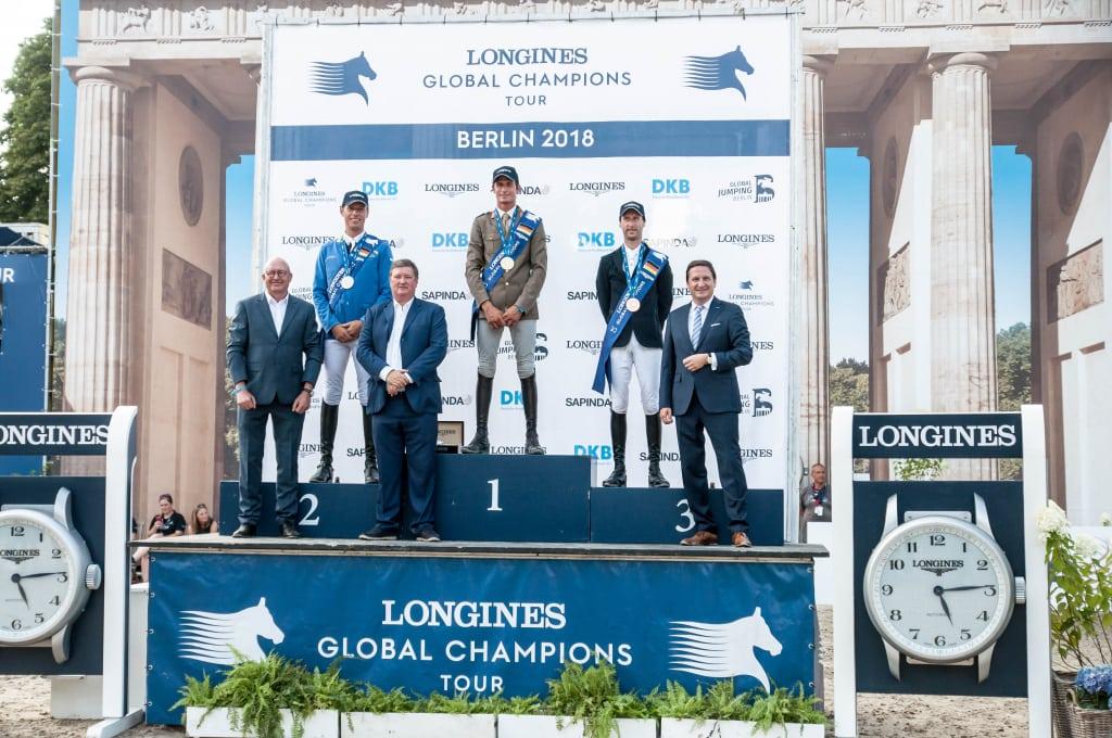 Siegerehrung im LONGINES Global Champions Tour Grand Prix von Berlin