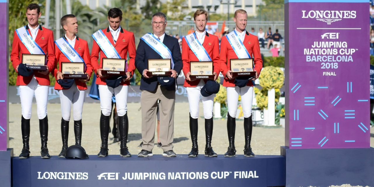 Das belgische Team siegt im LONGINES FEI Jumping Nations Cup Final