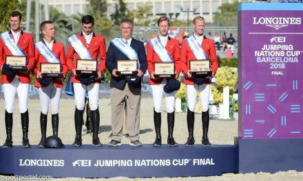 Das belgische Team siegt im LONGINES FEI Jumping Nations Cup Final