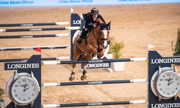 Marcus Ehning  mit Pret A Tout erfolgreich im Longines FEI Jumping World Cup of Madrid