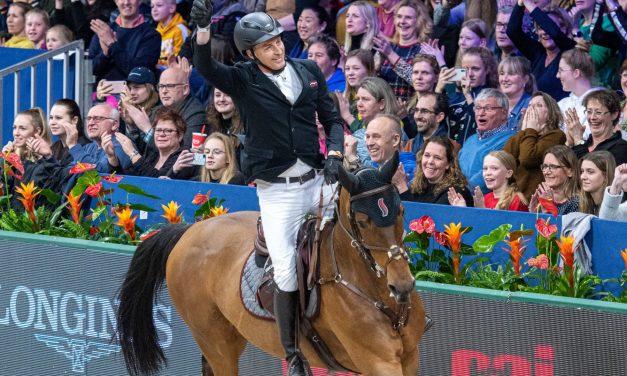 Standing Ovations für Marc Houtzager und Sterrehof's Dante im LONGINES FEI Jumping World Cup von Amsterdam