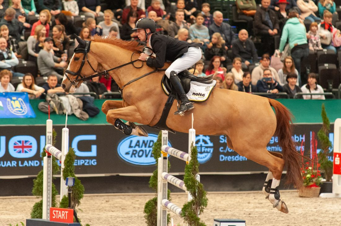 Marcus Ehning mit Pret A Tout im Championat von Leipzig 2020