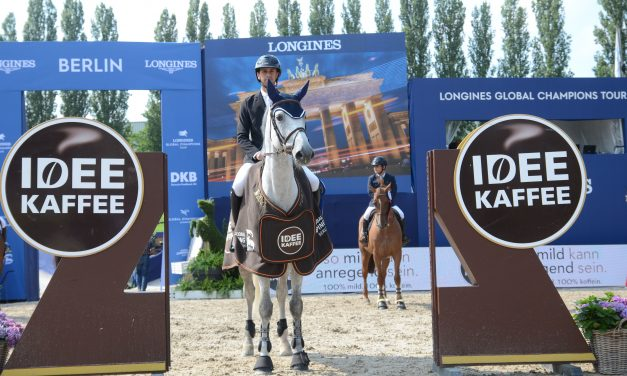 Global Jumping Berlin 2021 – 2 Hundertstel entschieden den IDEE-Kaffee-Preis