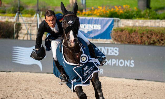 So viel Freude! Sergio Alvarez Moya siegt im Longines Global Champions Tour Grand Prix von Berlin