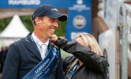 Harrie Smolders mit der einzigen Nullrunde zum Sieg im Longines Global Champions Tour Grand Prix of Hamburg 2021