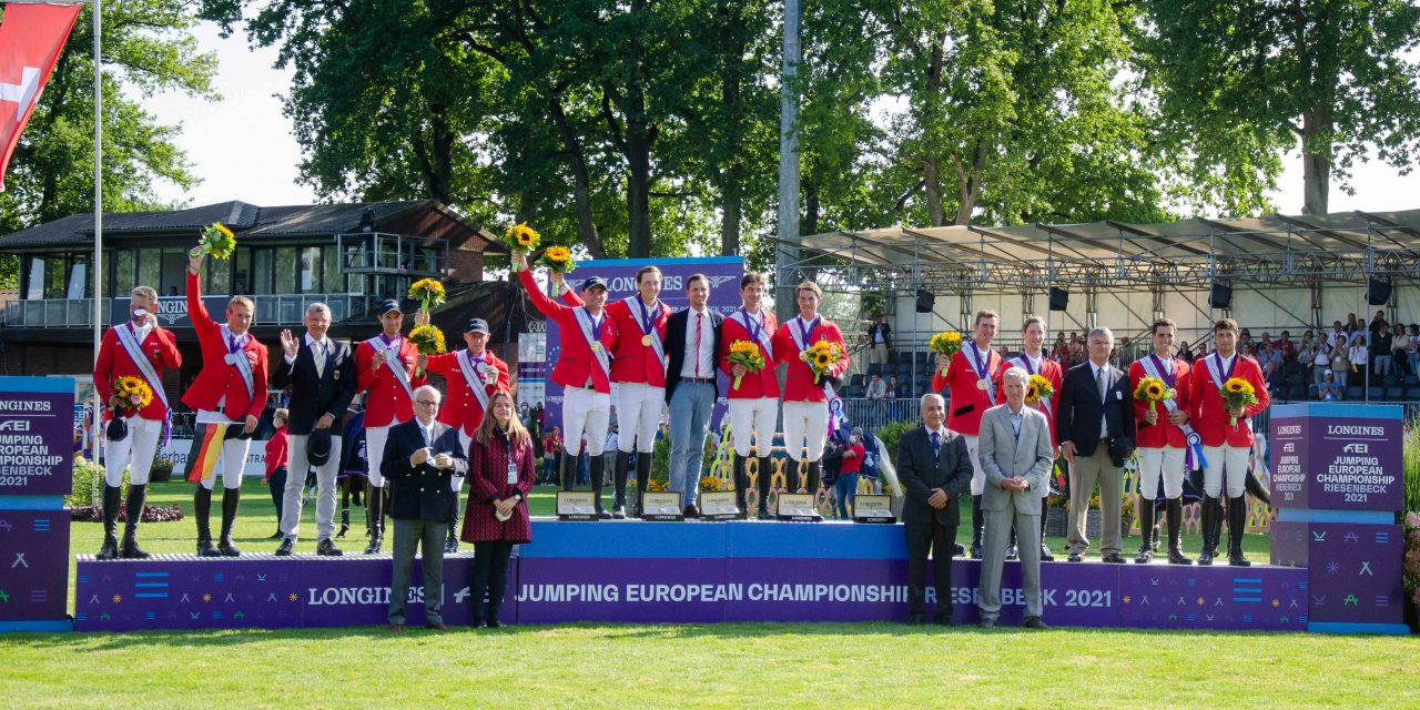 Jumping European Championship 2021: Schweiz siegt im Teamfinale von Riesenbeck